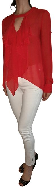 Preload https://img-static.tradesy.com/item/23279410/bcbgmaxazria-red-bcbg-blouse-size-00-xxs-0-1-650-650.jpg