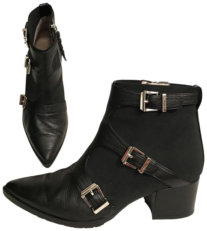 30226037b5a Donald J. Pliner Ankle Leather Lisa Pointed Toe Black Boots Image 0 ...