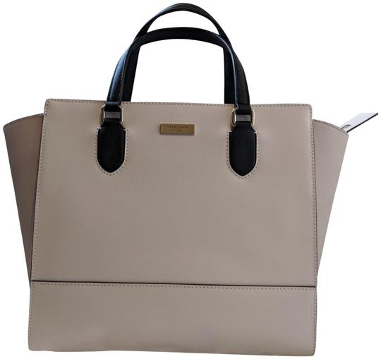 Preload https://img-static.tradesy.com/item/23279496/kate-spade-hadley-laurel-way-cement-black-pumice-leather-tote-0-1-540-540.jpg