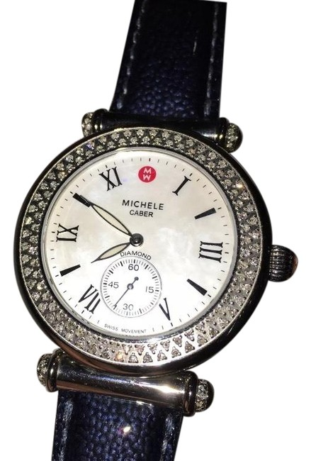 Michele Mother Of Pearl 'caber' Diamond 38mm Watch Michele Mother Of Pearl 'caber' Diamond 38mm Watch Image 1