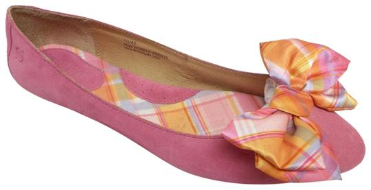 Preload https://img-static.tradesy.com/item/23279612/born-pink-suede-plaid-bow-ballet-flats-size-us-10-regular-m-b-0-1-540-540.jpg