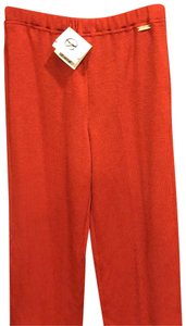 St. John Straight Pants red.
