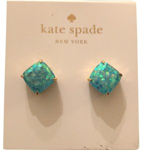 Kate Spade Turquoise Small Square Studs