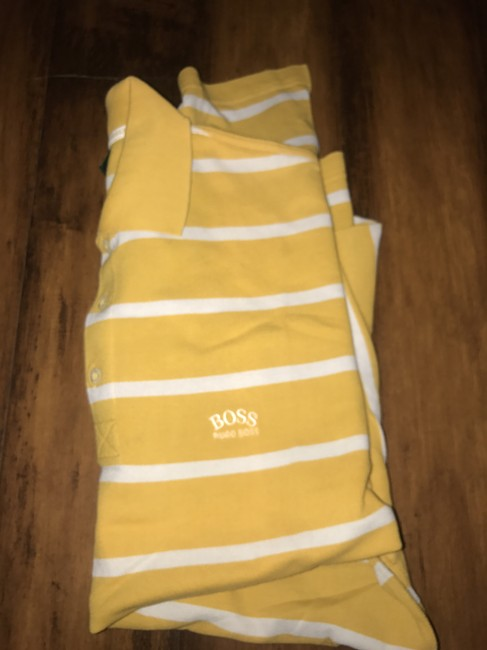 Hugo Boss T Shirt Yellow Image 1