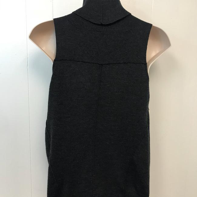 Eileen Fisher Knit Top Gray Image 3