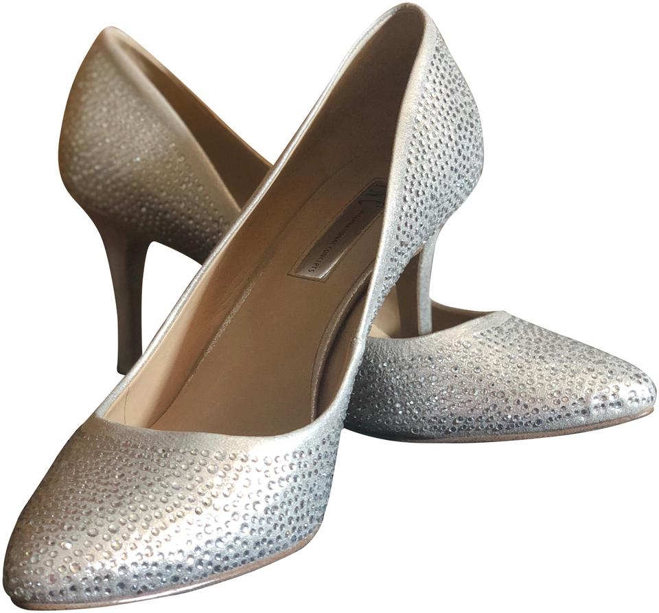INC International Concepts Silver I.n.c. Women's Zitah Created Rhinestone Pointed Toe Pumps Created Zitah For Macy's 8.5m Formal Shoes e1f99c