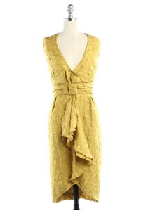 BHLDN Yellow Silk Tethered Vintage Bridesmaid/Mob Dress Size 6 (S)