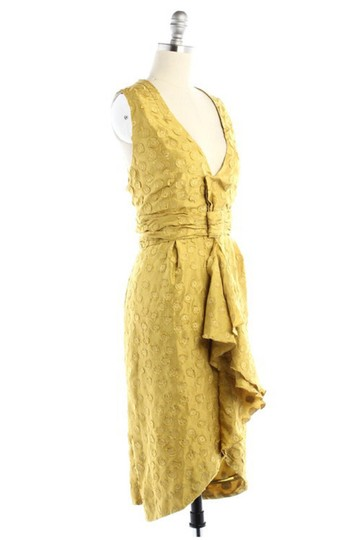BHLDN Yellow Silk Tethered Vintage Bridesmaid/Mob Dress Size 10 (M) Image 2