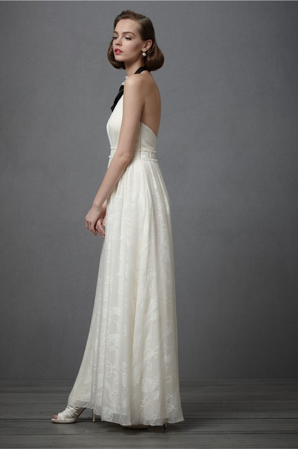 Item - Ivory Silk City Of Light Modern Wedding Dress Size 2 (XS)
