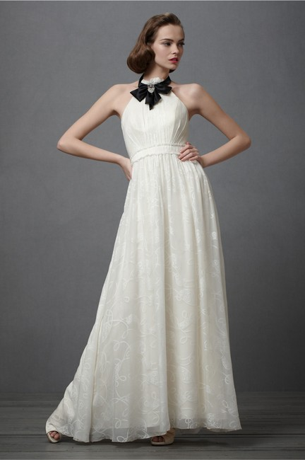 Item - Ivory Silk City Of Light Modern Wedding Dress Size 12 (L)