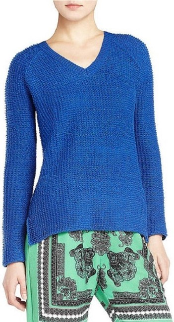 Item - Emmy Relaxed V-neck Small ) Blue Sweater