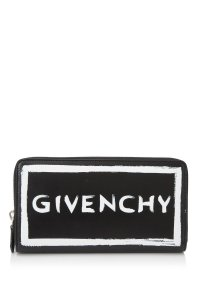 Givenchy Givenchy Iconic Print Long Zip Around Wallet Black Prints Calfskin Lea