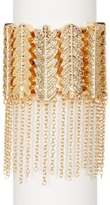 Eye Candy Los Angeles Steve Madden Leafy Branch Fringe Stretch Bracelet Gold