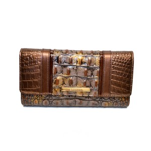 Brahmin Checkbook Wallet Fall Tortoise Cosimo Clutch