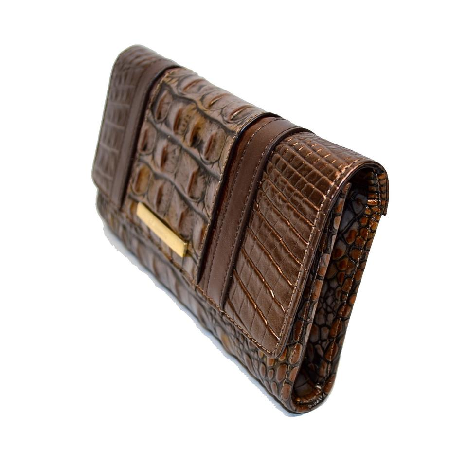 Fall Croco Clutch Tortoise Embossed Wallet Cosimo Brahmin Soft Checkbook Leather wfqYOttA