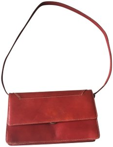 Barneys New York Barney's New York red leather wallet with removable shoulder straps
