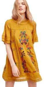 Free People short dress Amber Embroidered Victorian Fp Embroidered Vintage Look Fp on Tradesy