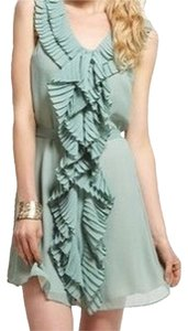 Ark & Co. Mint Seafoam Ruffle Tie Wedding Cocktail Green Dress