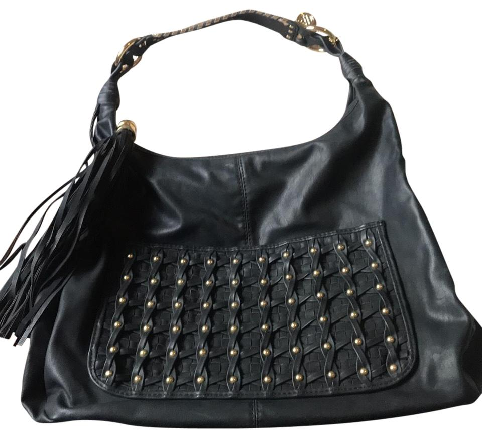 Big Buddha With Gold Accents Black Leather Hobo Bag - Tradesy c4db8a615a30b