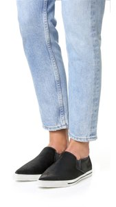 Marc Jacobs Black Calf Hair Slip-On Sneaker Flats