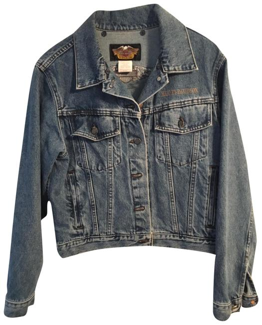 Harley Davidson Cool Relaxed Fit Jean Denim Womens Jean Jacket Image 0