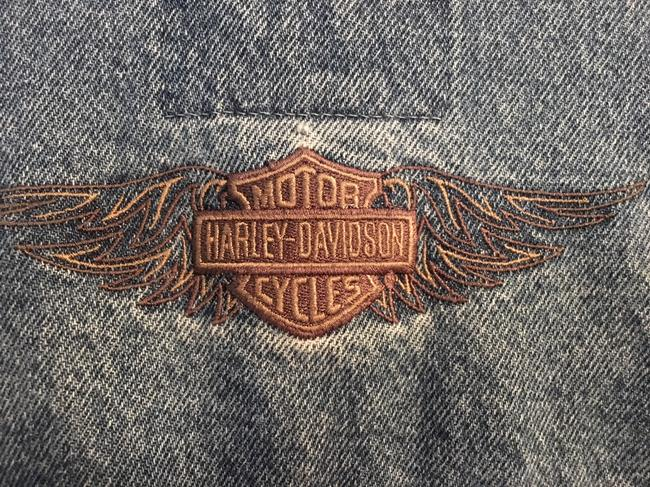 Harley Davidson Cool Relaxed Fit Jean Denim Womens Jean Jacket Image 1