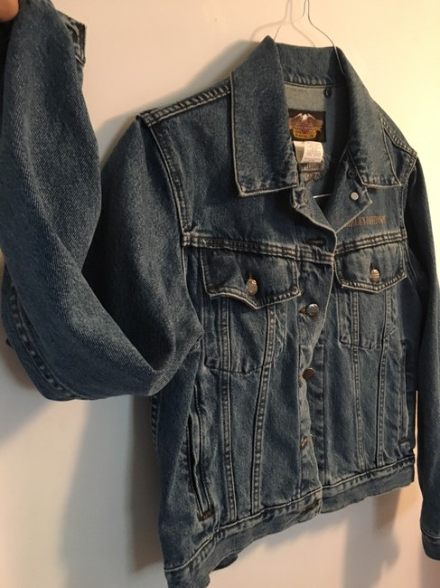 Harley Davidson Cool Relaxed Fit Jean Denim Womens Jean Jacket Image 2