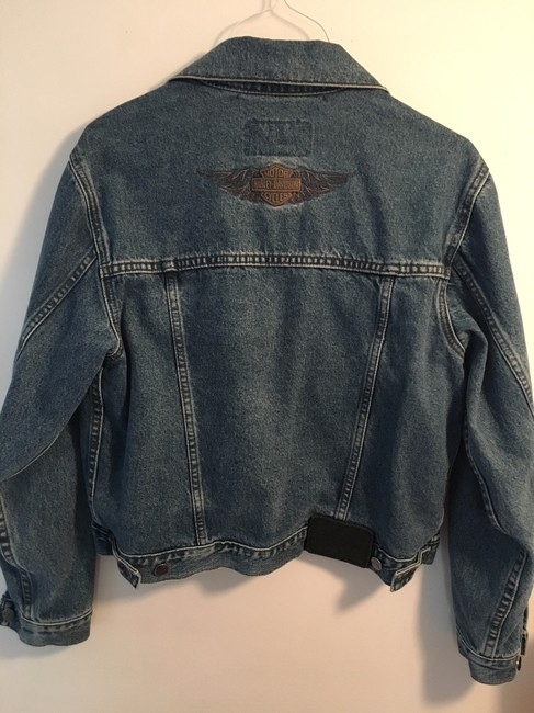 Harley Davidson Cool Relaxed Fit Jean Denim Womens Jean Jacket Image 3