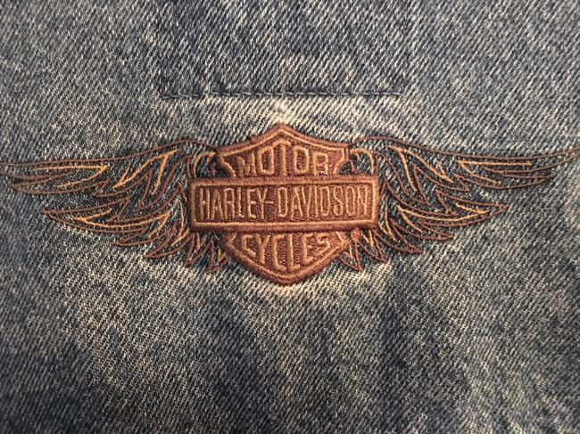 Harley Davidson Cool Relaxed Fit Jean Denim Womens Jean Jacket Image 7