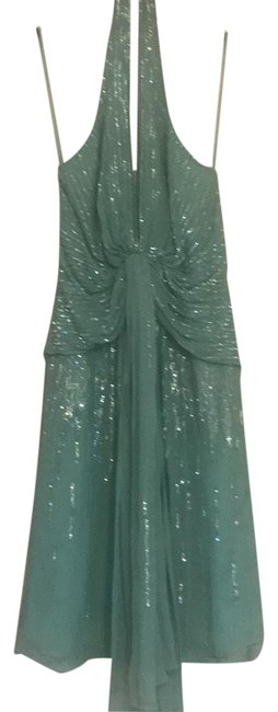 Item - Turquoise Sequin Party Short Night Out Dress Size 6 (S)
