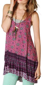 Free People Sleeveless Print Paisley Hi Lo Tunic