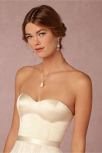 Catherine Deane for BHLDN Ivory Satin Darla Camisole Top Traditional Wedding Dress Size 6 (S)