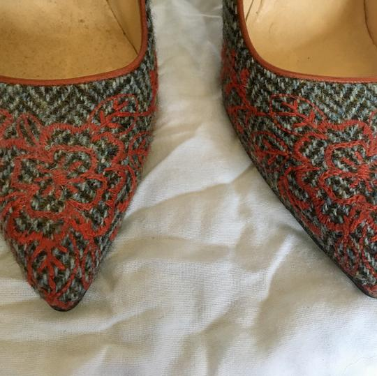 Cole Haan Embroidery Houndstooth orange grey Pumps Image 1