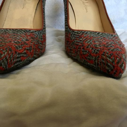 Cole Haan Embroidery Houndstooth orange grey Pumps Image 2