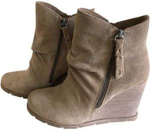 Splendid Suede Wedge Taupe Boots