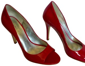 Marc Fisher Hot Open Toe Patent Leather pink Pumps