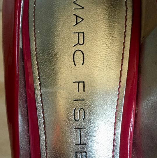Marc Fisher Hot Open Toe Patent Leather pink Pumps Image 1
