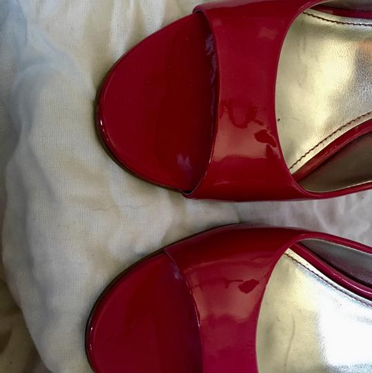 Marc Fisher Hot Open Toe Patent Leather pink Pumps Image 2