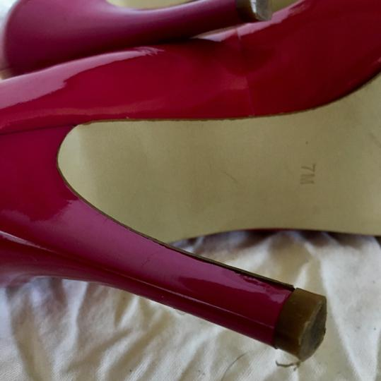 Marc Fisher Hot Open Toe Patent Leather pink Pumps Image 5