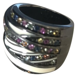 M.C.L by Matthew Campbell Laurenza M.C.L. Silver Trinity Ring with White Enamel