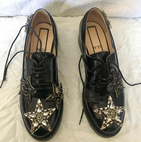 N21 Loafer Like New Crystal Stars black Flats Image 1