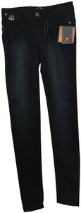 House of Deréon Designer Ornaments Pull On Beyonce Skinny Jeans-Dark Rinse
