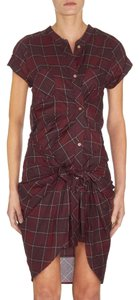 Étoile Isabel Marant short dress plaid Wrap Designer on Tradesy