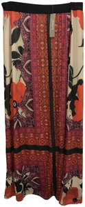 Chico's Maxi Skirt Red, Cream, and Brown