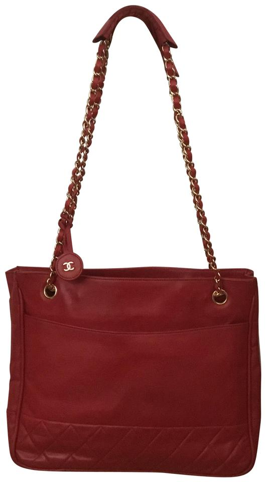 50d0727796aaaa Chanel Vintage Shoulder Shopper Tote in Red Image 0 ...