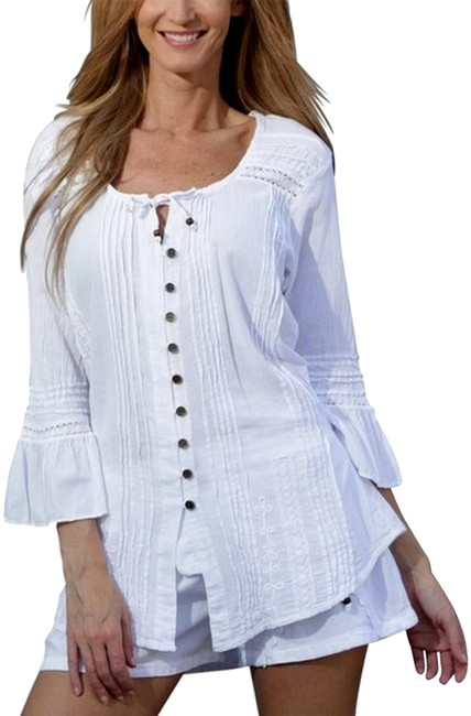 Preload https://img-static.tradesy.com/item/2328286/lirome-white-chiquita-organic-cotton-ibicenco-pleated-blouse-size-6-s-0-5-650-650.jpg