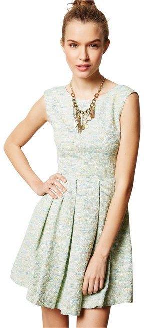 Preload https://img-static.tradesy.com/item/23282881/anthropologie-mint-anthro-paper-crown-parkside-pleated-short-cocktail-dress-size-6-s-0-7-650-650.jpg
