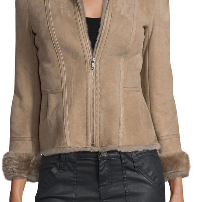 Item - Beige Amica Shearling-lined Suede Jacket Size 4 (S)