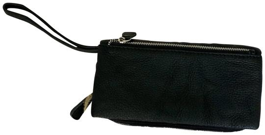 Anthropologie Leather Black Clutch Image 1