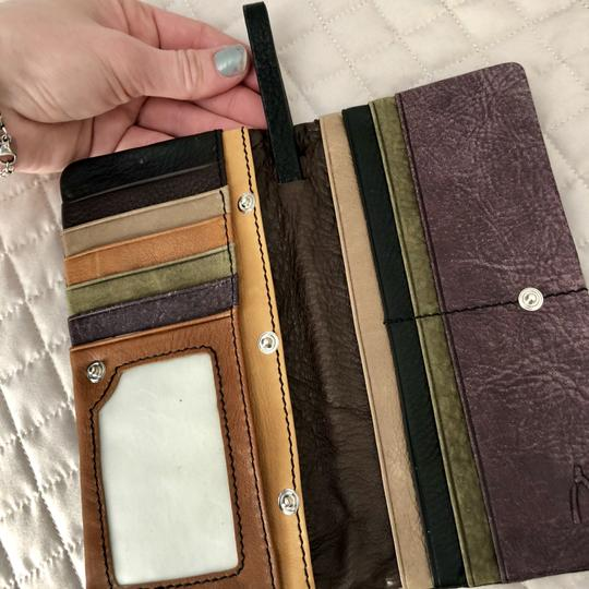 Anthropologie Leather Black Clutch Image 2